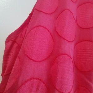Jones New York Dresses - 20W Jones New York Sleeveless Shirt Dress Flamingo